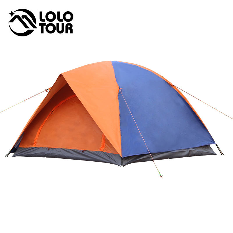Double Layer 3-4 Person Outdoor Large Canvas Camping Beach Awning Ultralight Hiking Fishing Hunting Picnic Barraca Carpas Tente 4 5 person portable large camping 2 rooms beach tent waterproof double layer four season outdoor hiking awning tente zp91 page 2
