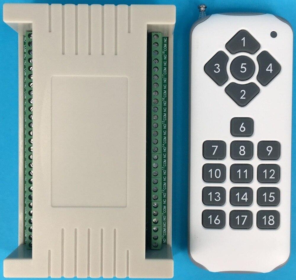 18CH DC 12 V RF domotique télécommande interrupteur émetteur et recevier sans fil commutateur Radio contrôle de la maison intelligente