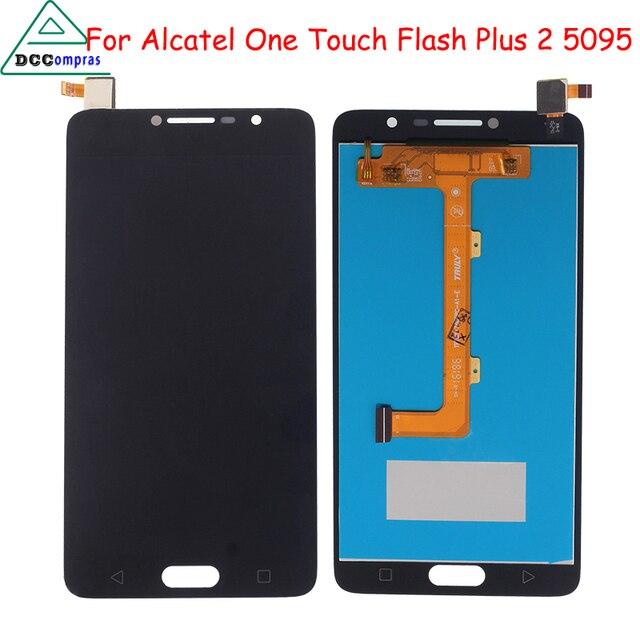 Original Qualität Für Alcatel One Touch Flash Plus 2 5095 OT5095 LCD Display Mit Touch Screen Digitizer Montage 100% garantie