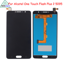 Original Quality For Alcatel One Touch Flash Plus 2 5095 OT5095 LCD Display With Touch Screen Digitizer Assembly 100% warranty for alcatel one touch idol 2 mini 6016 ot6016 lcd display touch digitizer assembly frame white by free shipping