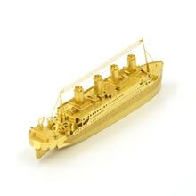 Titanic 3D Metal Puzzles DIY Model Children Jigsaws Toys Present Gift Mind Puzzles