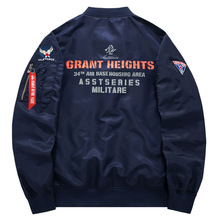 Men Military Bomber Jacket Printing Letter baseball Jacket Classic Streetwear Air Flight Motorcycle Clothing Plus Size 6XL