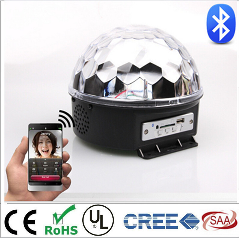 Bluetooth MP3 magic crystal ball KTV disco disco colorful laser stage lighting voice LED magic ball magic ball lamp voice pattern rotating colorful lights flash bar ktv laser stage lighting with sound crystal
