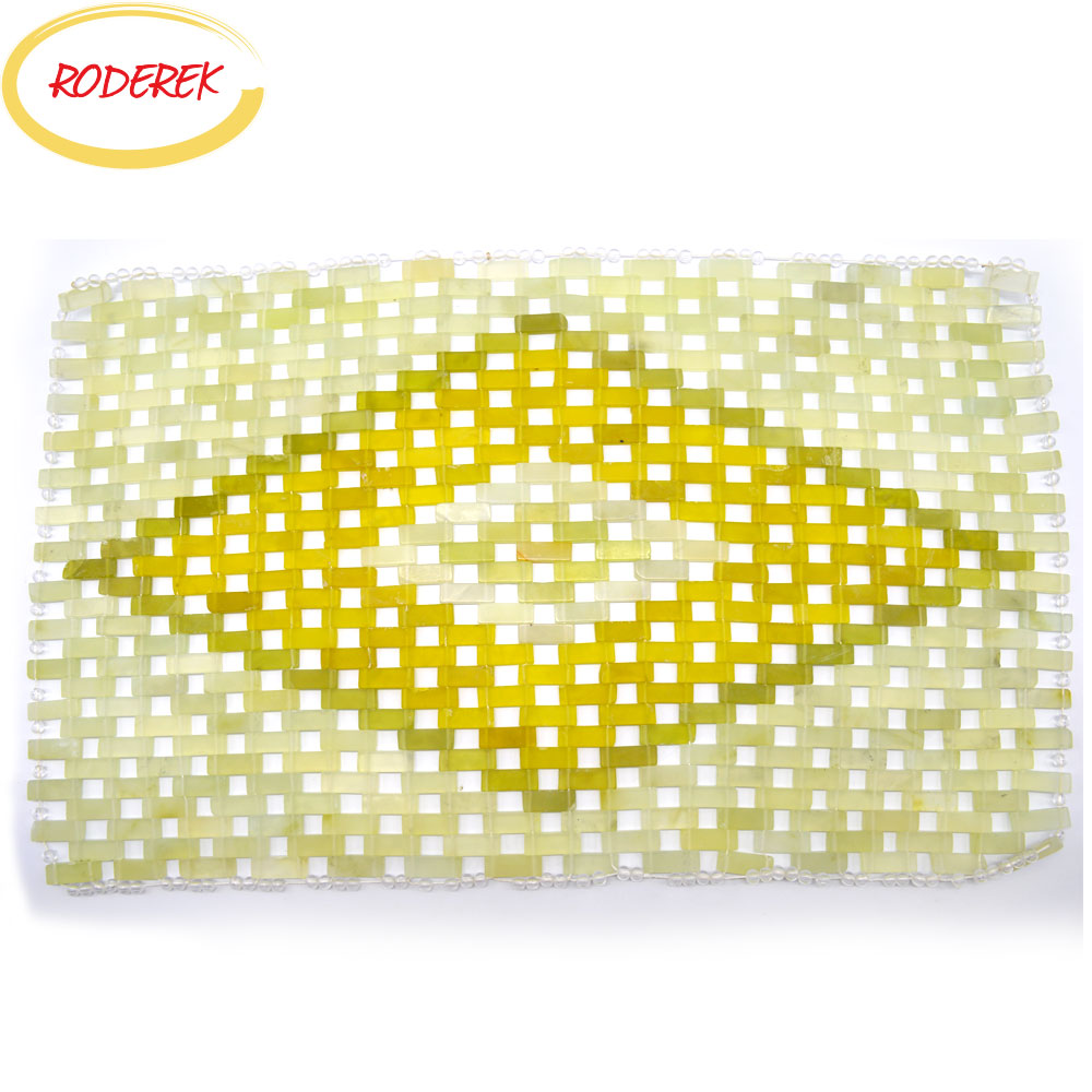 Jade Pillow Mat Xiuyan Natural Jade Massage Pillow For Head Health Care Cool Stone Body Massage