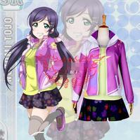 Hot Anime LoveLive! cosplay Tojo Nozomi Halloween party Daily No awakening baseball cosplay costume