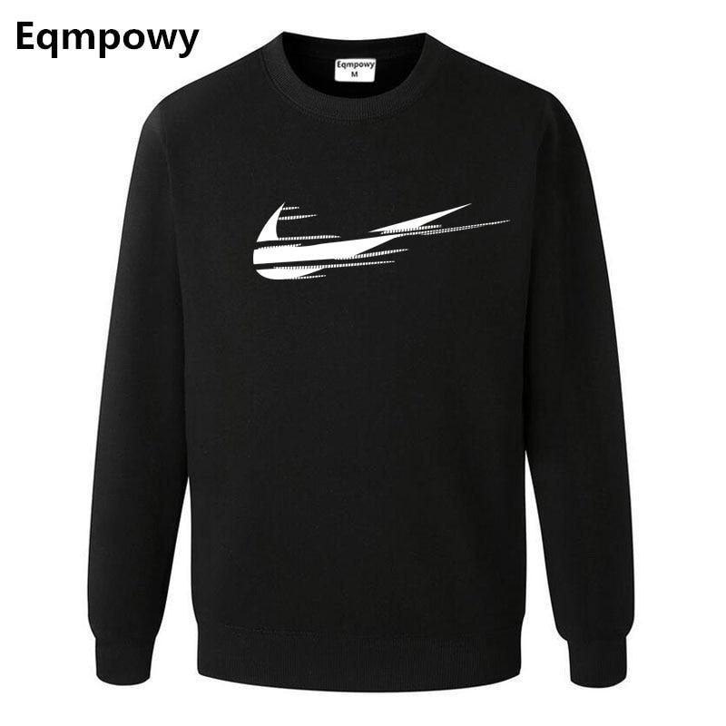 Осень Зима 2018 бренд мужской черный с капюшоном с длинными рукавами с капюшоном хип-хоп печати Логотип Толстовка Фитнес Мужская одежда