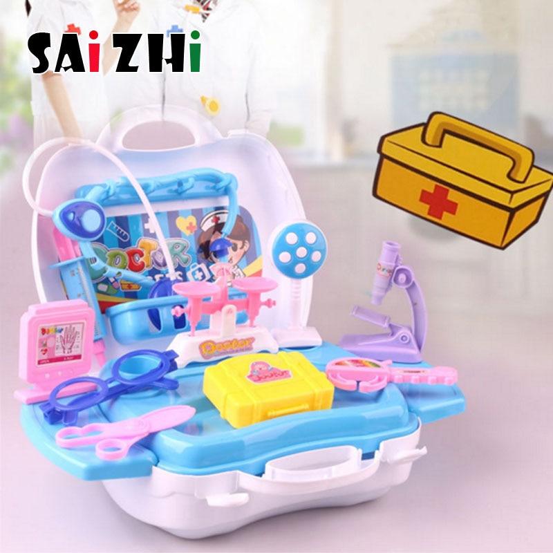 Saizhi docteur jouet pour enfants semblant jouer docteur infirmière jouet valise portable Kit médical enfants éducatifs jeux de rôle jouets