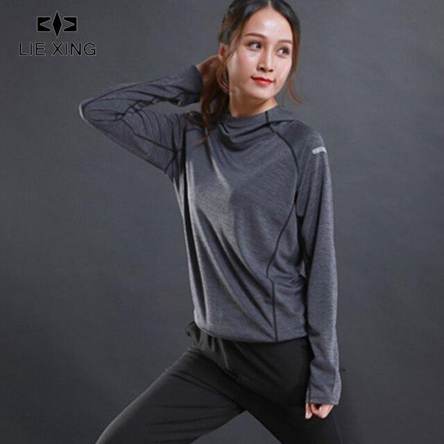LIEXING Hooded Running Jacket Women Pullover Long Sleeve Sweatshirt Ladies Jogging Sports Jacket Women's Fitness Gym Shirts