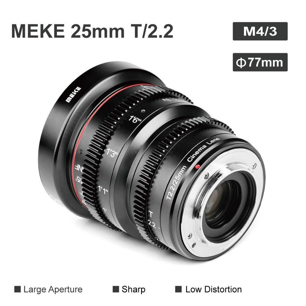 Meike MK 25 мм T2.2 асферический портретный объектив с ручным фокусом для камер Micro Four Thirds (MFT, M4/3) с креплением Olympus Panasonic