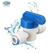 """Ровный прямой 1/"""" OD шланг быстрое соединение шарового клапана RO воды Reveser осмоса аквариумная система фитинги части фильтра для воды"""