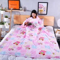 Adult Children Bedding Winter Quilt Fabric Blanket Plush Plaid Sofa Bed Bedspread Cover Bed Futon Knit