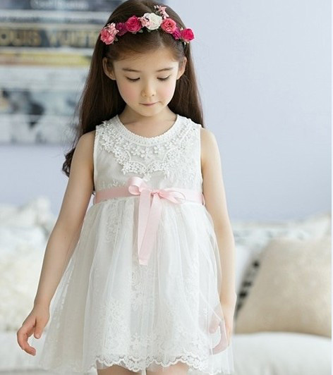 2017 Kids Flower Girls Evening Dress Children Summer Clothes Tutu Dresses for Wedding Party Baby Girl Lace Princess, Pink/White girl white dress rose lace costume wedding dresses princess toddler girls tutu summer party prom for girl kids evening clothing