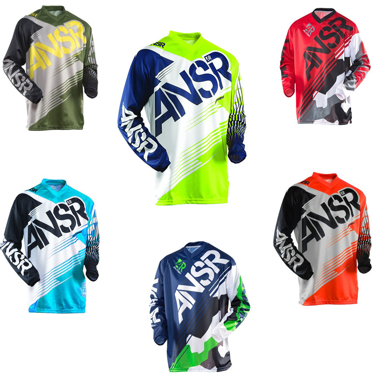 2018 New ANSR motocross, long sleeve motorcycle, racing suit, T-shirt, bicycle, mountain speed drop, riding suit