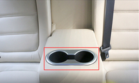 ABS Chrome Matte Rear Seat Water Cup Holder Cover For Mazda 6 Atenza 2013 2014 2015