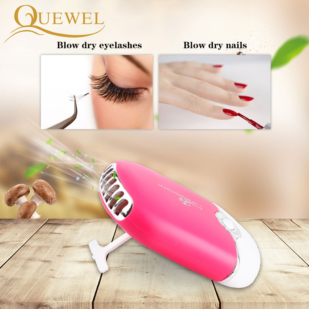 Image 3 - USB Eyelash Extension Mini Fan Air Conditioning Blower Lashes Fans Glue Grafted Eyelashes Dedicated Dryer Makeup Tools 5 Colors-in False Eyelashes from Beauty & Health