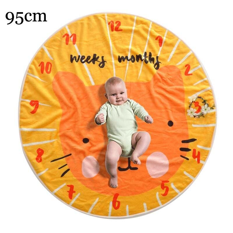 Прямоугольное одеяло-Ростомер для новорожденного ребенка/ребенка, подарок для мальчика, одеяло для фотосъемки 76X102 см - Цвет: cat