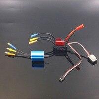 FATJAY 2430 RC 5800KV brushless inrunner motor sensorless with HobbyWing QuicRun 30A ESC combo for RC hobby 1/16 1/18 cars
