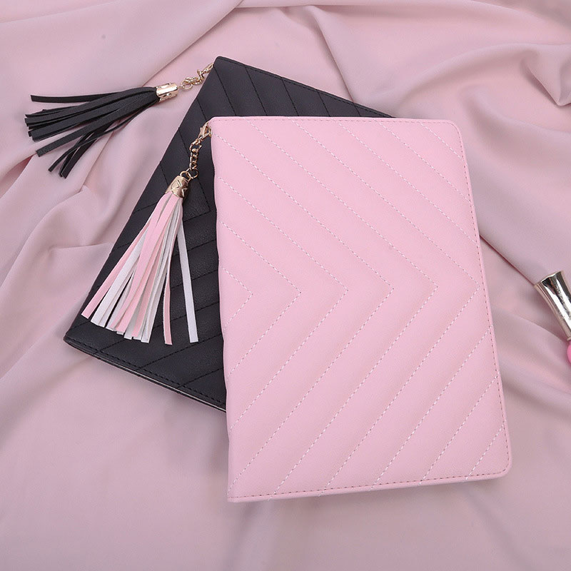 Delicate Case For Ipad 2 3 4 Senior PU Leather PC Multi-Folding Magentic Lovely Tassel Cover For Ipad 2 3 4 Tablet Fundas Capa