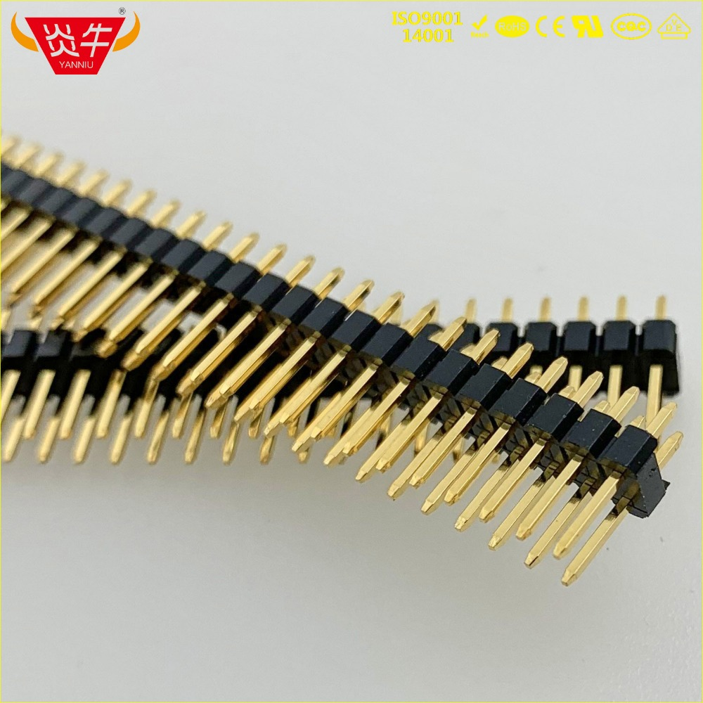 2.54mm PITCH 80PIN MALE STRIP CONNECTOR SOCKET DOUBLE ROW STRAIGHT PIN HEADER 2X40P WITHSTAND HIGH TEMPERATURES GOLD PLATED 3Au