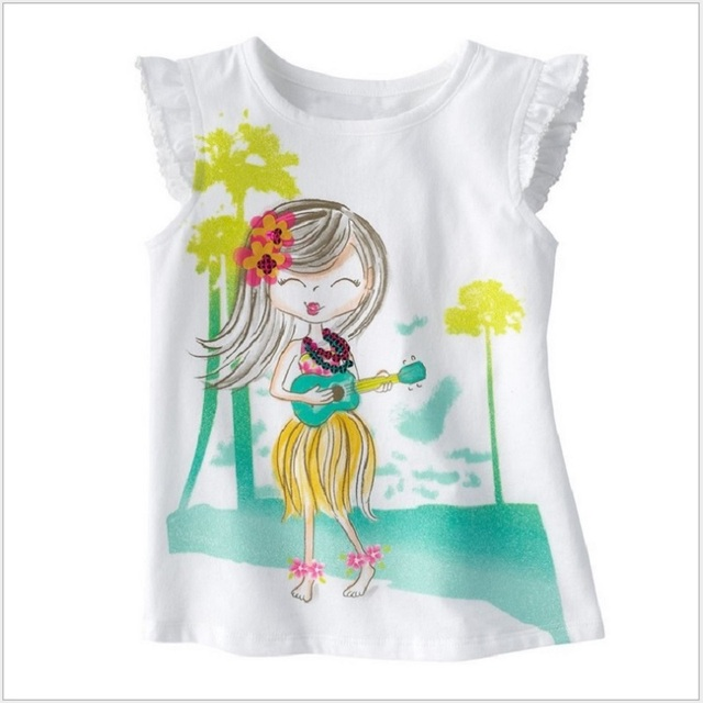 3fedccd79 Jumping Beans Sleeveless Girls T-Shirts Summer Singlets Baby Girl Clothes  Tops Bohemia Fashion Beach Kids Tee Shirts