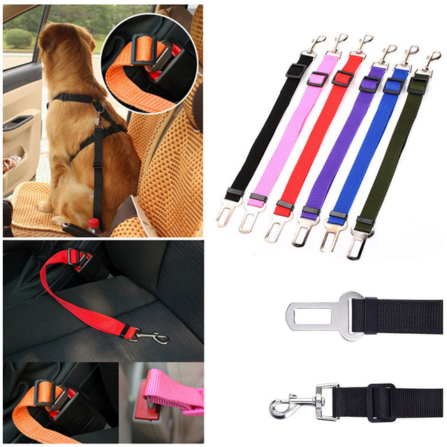 Adjustable Pet Dog Seatbelt Harness Lead Pet Dog Car Safety Seat Belt Used with Collar Leash Harness Pet Dog Travel Acessories