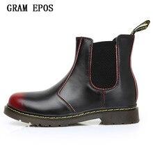 Зимние мужские ботинки ручной работы из износостойкой кожи; Повседневная обувь для влюбленных пар в винтажном стиле; высокие ботинки-оксфорды без шнуровки; мотоботы