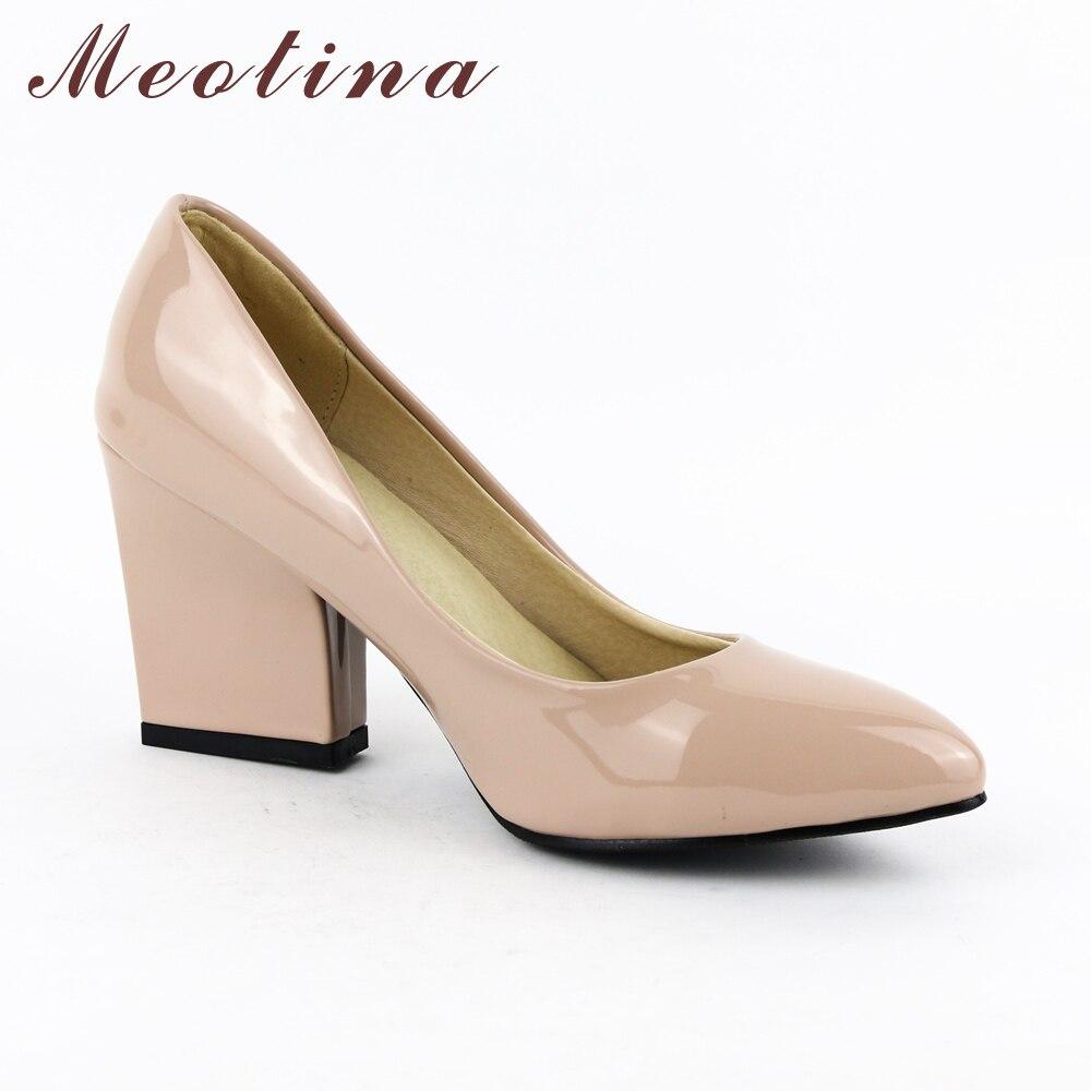 Meotina High Heels Schuhe Frauen Weiß Hochzeit Schuhe Dicke High - Damenschuhe - Foto 2