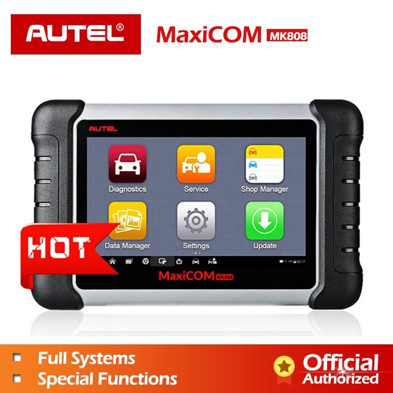 Autel MaxiCOM MK808 MX808 автомобильной инструмент диагностики всех Системы ключ программирования OBD2 II сканер ABS SRS как MD802 + MaxiCheck Pro