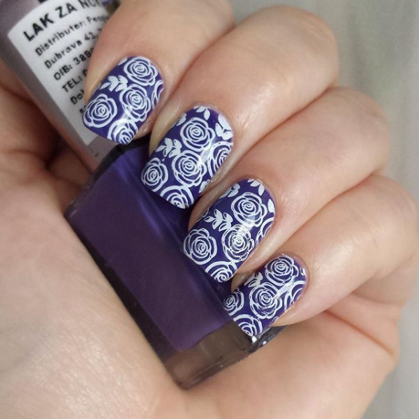 1pc rose flower nail stamping plates stamp nail art template image 1pc rose flower nail stamping plates stamp nail art template image plate born pretty bp73 20790 in nail art templates from beauty health on prinsesfo Choice Image