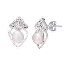 86fecea8b456 Venta al por mayor 925 Tremella aguja fina joyería de pendientes de corazón  de cristal Real