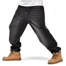 NEW Fashion Men's Jeans Hip Hop Men Loose Jeans Hip Hop Jeans Baggy Long Trousers Black Male Bottoms Plus size цены онлайн