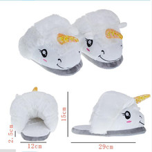 hot Licorne New Arrival Unisex Unicorn Cotton Home Slippers Chausson Licorne Indoor Christmas Slippers Shoes