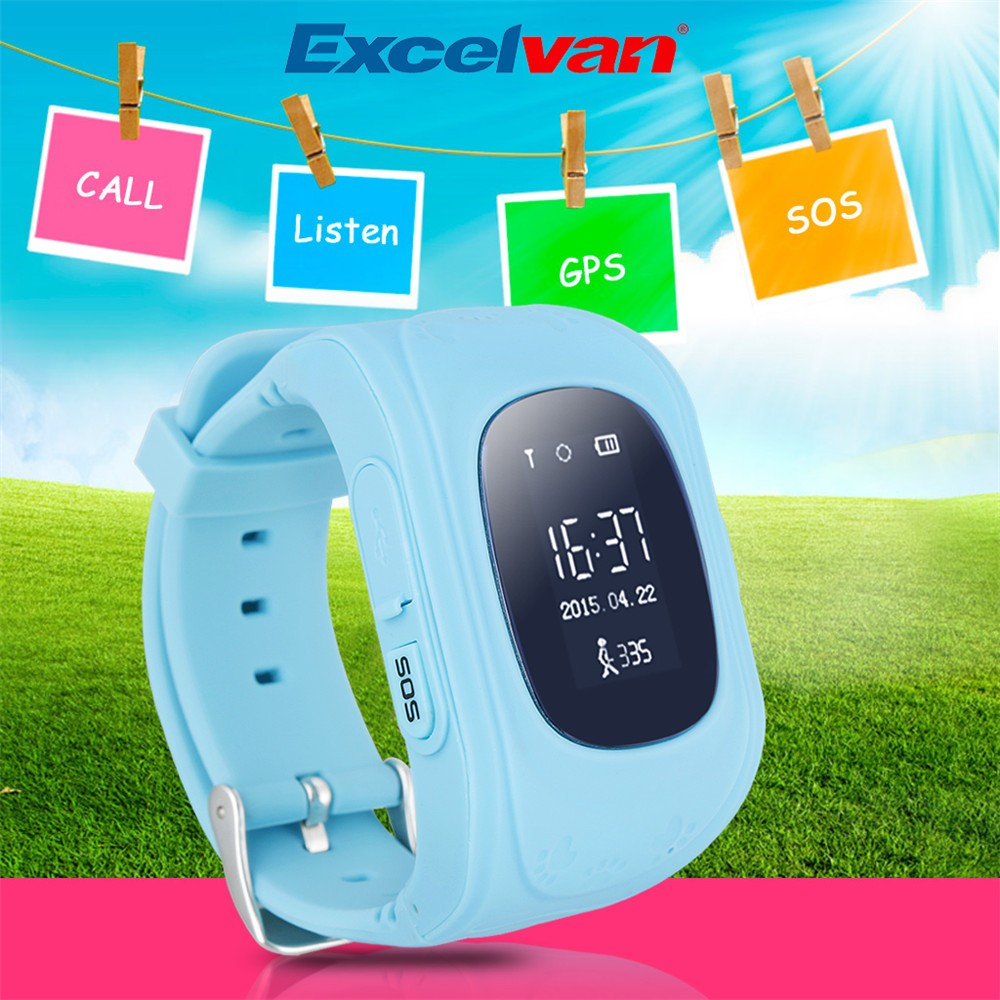 2016 Smart Kid Safe GPS Watch Wristwatch SOS Call Location Finder Locator Tracker for Kid Child Anti Lost Monitor Baby Gift Q5019