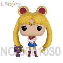 цена на Official 12cm pop horse hand-done doll Small Lady studio ghibli Sailor Moon Mercury Mars Jupiter  Cartoom Anime Action Figure