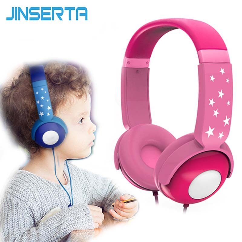 JINSERTA 2018 Portable Kids Headphones Gaming Headset Over-Ear Earphone for Computer PC Laptop Cell phone gift for kids