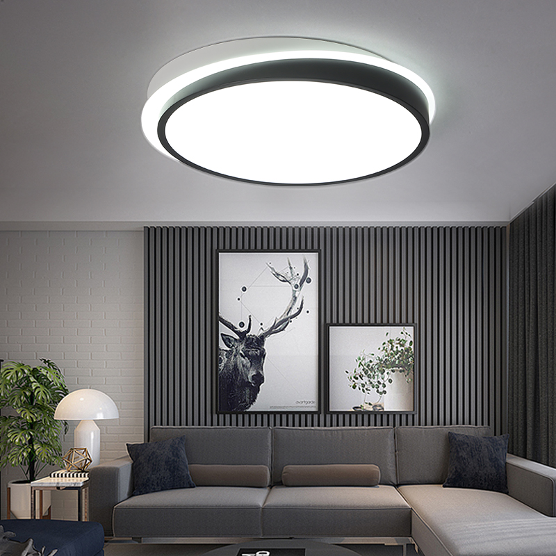 Black White LED Ceiling Lights Luminaria Ceiling Lamp Fixtures Lustre Luminaire Plafonnier For bed room Home Lighting Lamparas modern ceiling lights round crystal ceiling lamp led lusters luminaria for balcony entrance lamp plafonnier lighting fixtures