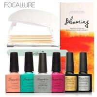 FOCALLURE New Arrival UV Gel Kit Soak Off Gel Polish Gel Nail Kit Nail Art Tools