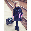 Casacos de Moda da menina Vento Casaco de Primavera Do Bebê Do Outono das Meninas Outerwear Crianças Bowknot Manga Comprida Trench 2-9Years