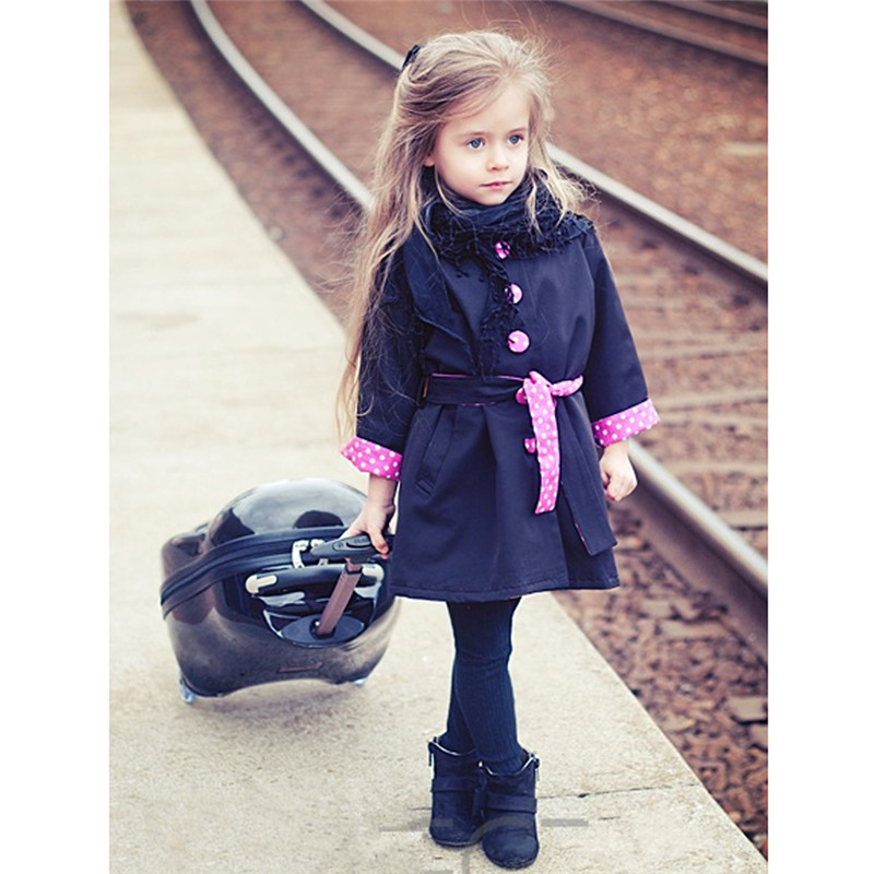 Girl s Fashion Jackets Girls Outerwear Children s Wind Coat Spring Autumn Baby Bowknot Long Sleeve