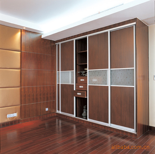 Wooden Closet Bedroom Furniture Set Wardrobe Combination Wardrobe In
