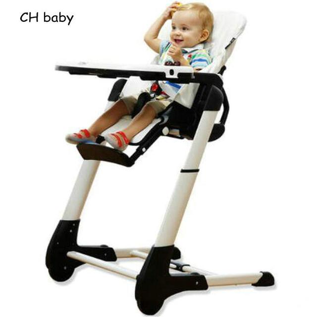 CH Baby 4 в 1 Кожа Сиденье Ребенок Столовая Стульчик сложите Baby Feed Chair with PP пластиковый лоток детские Высокие стул
