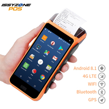 IssyzonePOS Touch Screen PDA Receipt Printer Android 5.1 Handheld POS terminal PDA 1D/2D Barcode Reader 4G WIFI NFC Camera 7inch touch display industrial pda android tablet ccd 1d 2d barcode scanner handheld tablet with bluetooth nfc wifi 4g