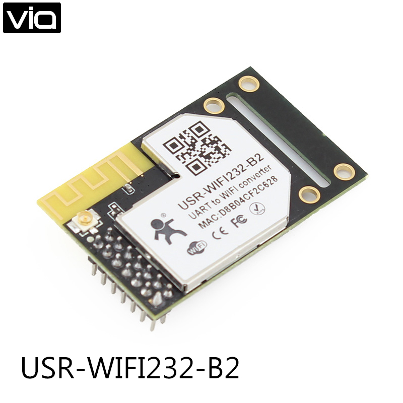USR-WIFI232-B2 New Free Shipping Serial UART TTL to 802.11 b/g/n Wifi /Wireless Module Converter Built-in Webpage W/Antenna freeshipping rs232 to zigbee wireless module 1 6km cc2530 chip