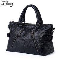 2019 Genuine Leather City Bag Luxury Brand Women Handbag Classic City Double Zipper Shoulder Bag Cow Leather Crossbody Bag Totes