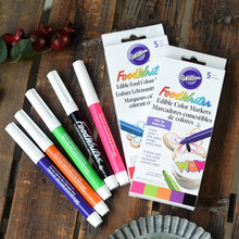 5 Piece Wilton FoodWriter Food Writer Edible Markers Neon Colored, Coloring Color Pen