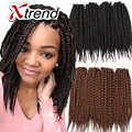 kanekalon Box Braids hair Crochet Braids 12''12strands black Burgundy synthetic braiding senegalese twist curly Hair Extensions
