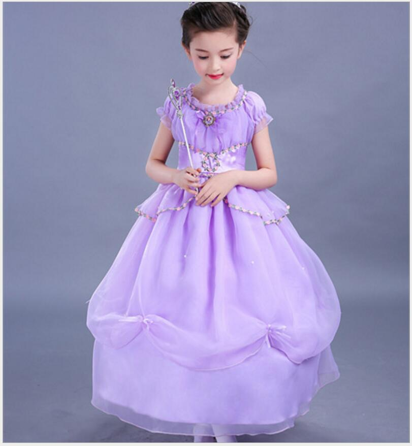 Kids Cosplay Costume Dress Cinderella Elsa Baby Girls: New Baby Girl Anna Elsa Dress High Grade Sequined Princess