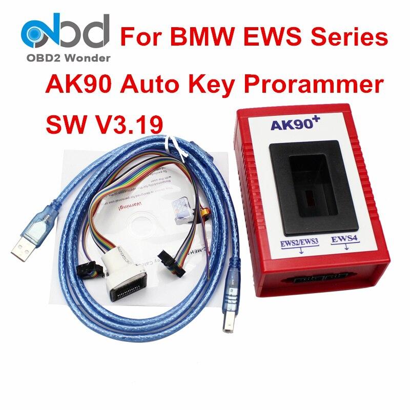 Prix pour Meilleur Prix Professionnel AK90 Pour BMW Programmeur principal AK90 + Dernière Version V3.19 Pour BMW Tous Les EWS Série OBD2 OBDII Clé De Voiture Maker