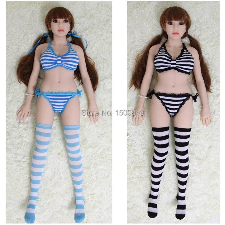 Athemis Love font b Dolls b font Clothing Sexy bra and Thong set Striped Bikini set