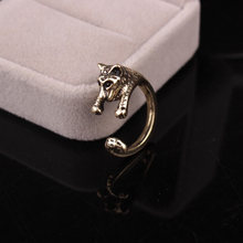 Drop shipping adjustable metal retro Tiger Animal Ring Jewelry 2 Colors Free Collocation High Quality(China)